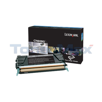 LEXMARK C746 TONER CARTRIDGE BLACK HY
